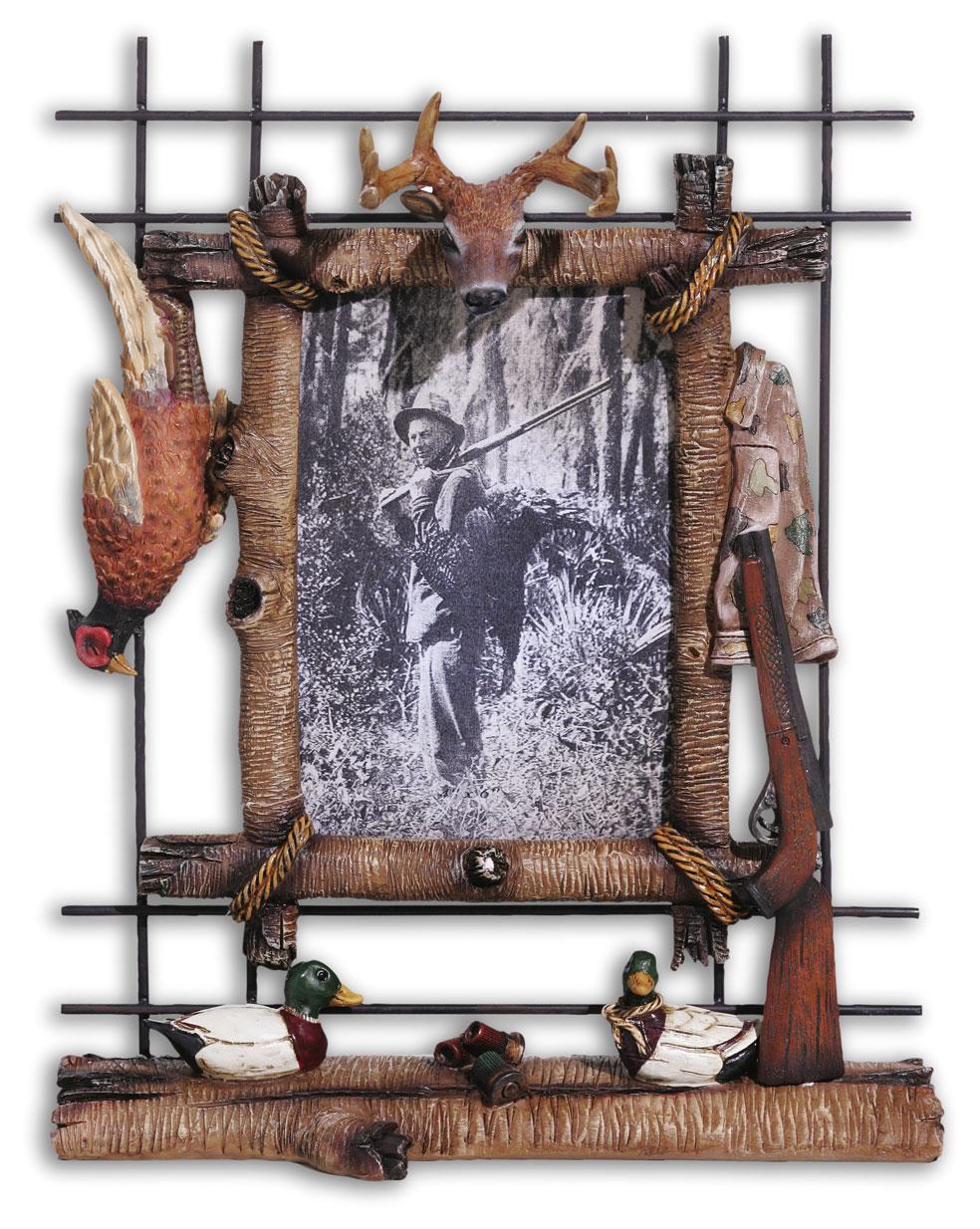 cadre photo fusil chasse na0365 grossiste cadeaux d corations figurines et peluches prix. Black Bedroom Furniture Sets. Home Design Ideas