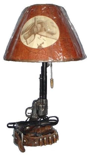 lampe pistolet cartouchiere in0208 grossiste cadeaux d corations figurines et peluches prix. Black Bedroom Furniture Sets. Home Design Ideas