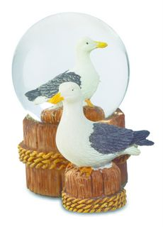 boule neige mouette ponton avec figurine me0977. Black Bedroom Furniture Sets. Home Design Ideas